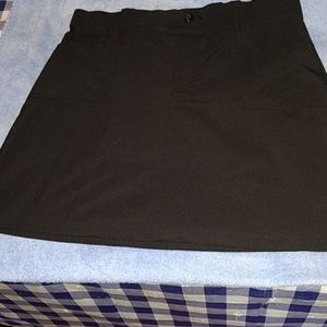 Skorts Lee Riders Black Elastic Waist Good Conditi